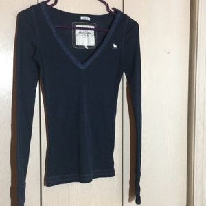 Abercrombie & Fitch Tops - Navy long sleeve Abercrombie and Fitch shirt